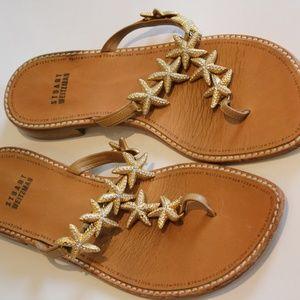 Stuart Weitzman  Gold Starfish Sandals size 7